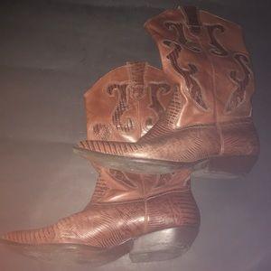 Nine West Leather Cowboy Boots